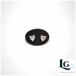 Orecchini in argento e cubic zircone taglio Cuore