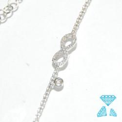 Bracciale Infinito in oro bianco 750-18kt con brillanti