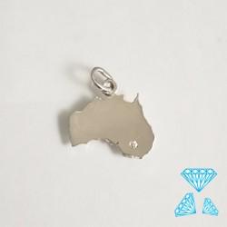 Ciondolo Australia in oro Bianco