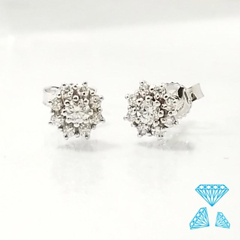 dopo numerosi in varietà nuovo stile e lusso Orecchini oro bianco e diamanti taglio brillante