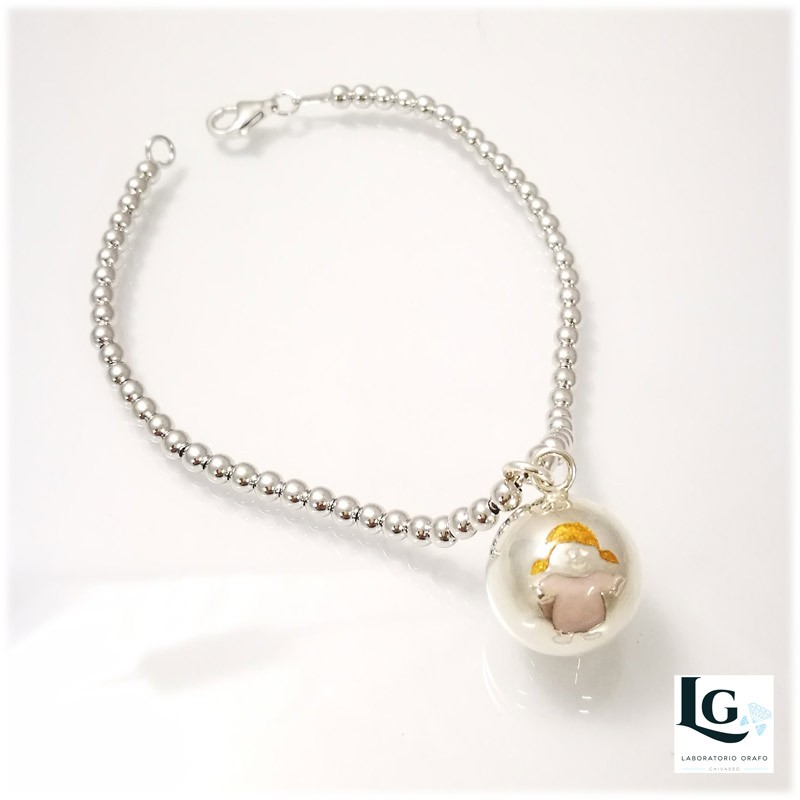 Small Ball bracciale con Bambina smaltato