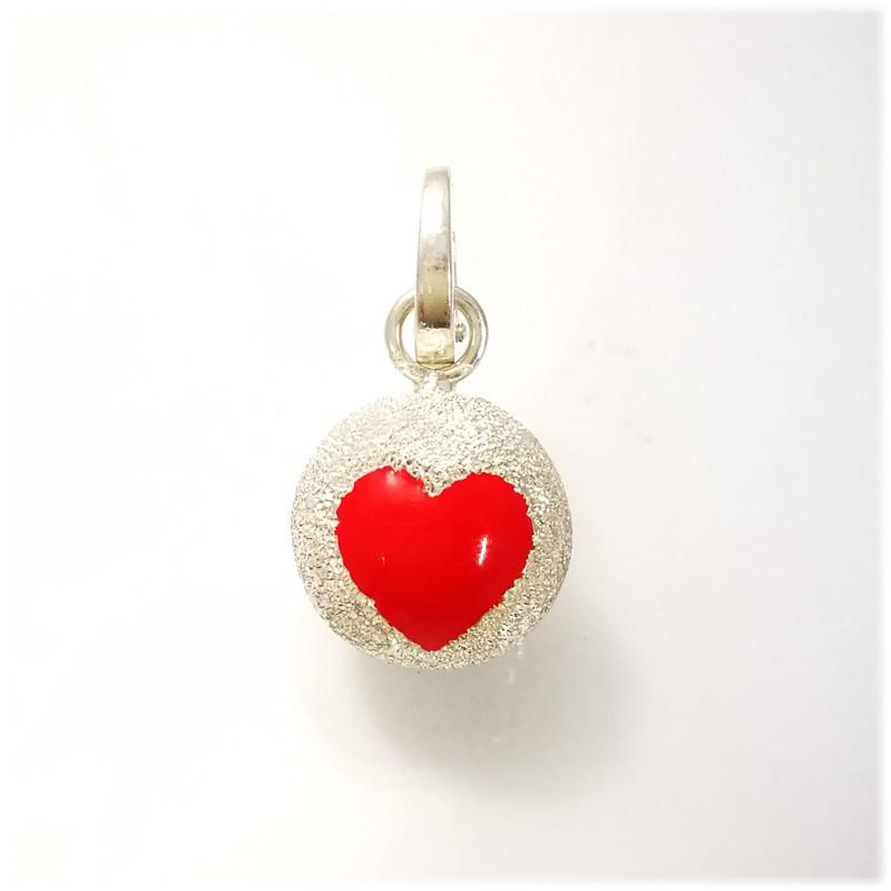 Small Ball cuore rosso dimantato