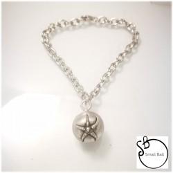 small Ball Bracciale con stella marina rilievo
