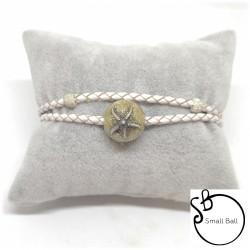 Bracciale Small Ball con Stella Marina Glitter Sabbia