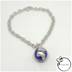 Bracciale Small Ball  World Blu