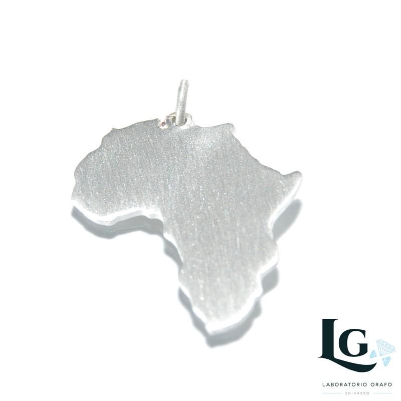 Ciondolo Africa in argento 925