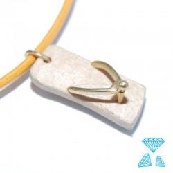 Ciondolo in legno e oro 750 (18kt) codice 0229