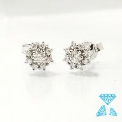 Orecchini oro bianco e diamanti taglio brillante
