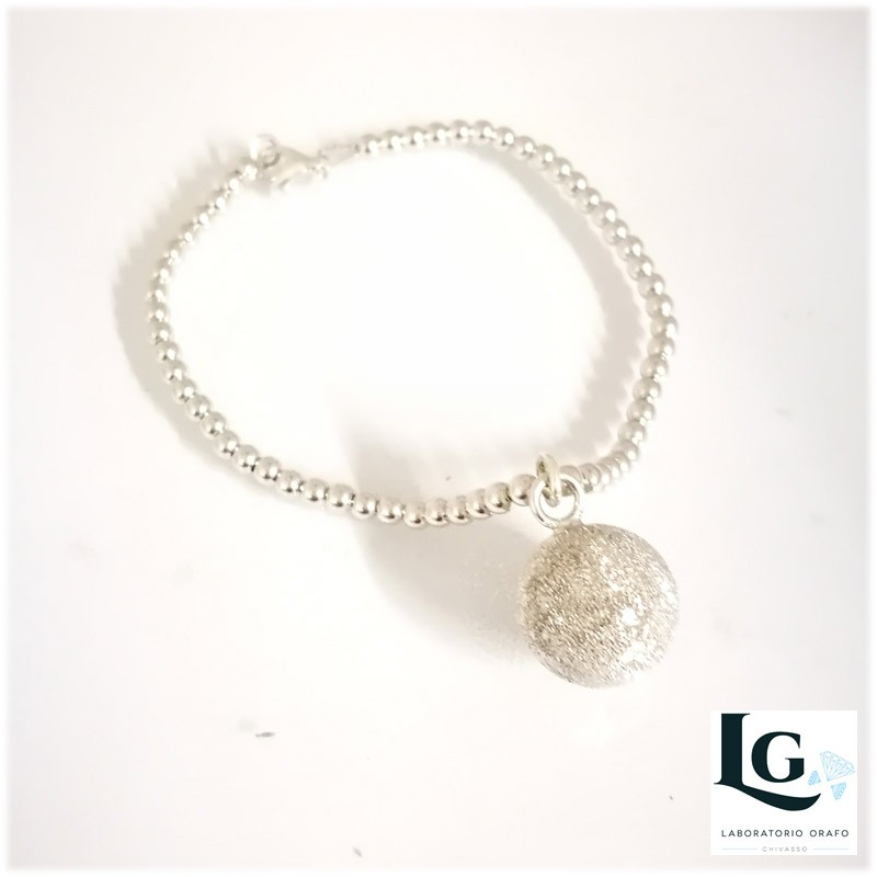 Bracciale Small Ball con pallina effetto diamantato e profumata