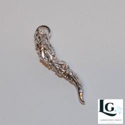Ciondolo Dea Bendata e cornetto argento 925 codice 0213