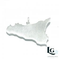 Ciondolo Sicilia in argento 925