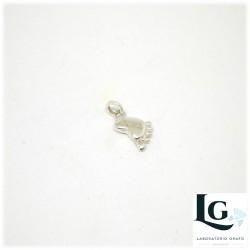 Ciondolo piedino in argento personalizzato